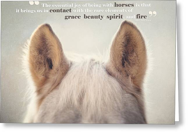 Grace And Beauty Greeting Card by Lisa Russo