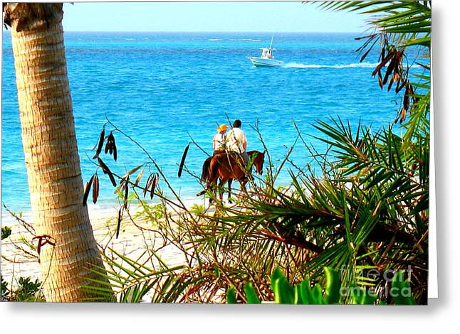 Grace Bay Riding Greeting Card by Patti Whitten