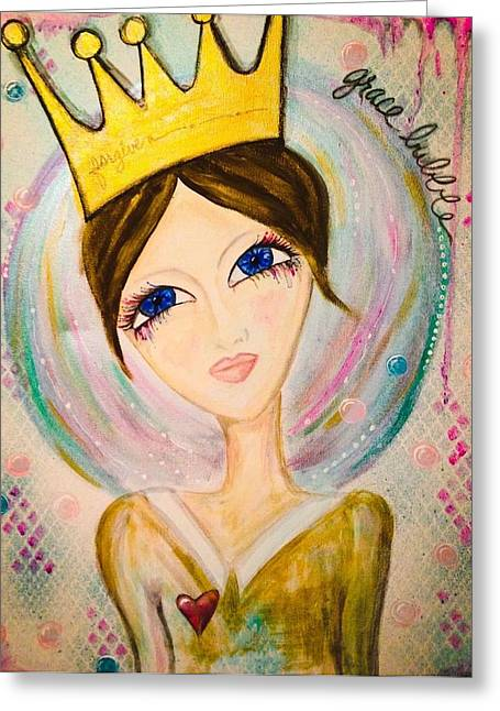 Grace Bubble Greeting Card by Debbie Hornsby