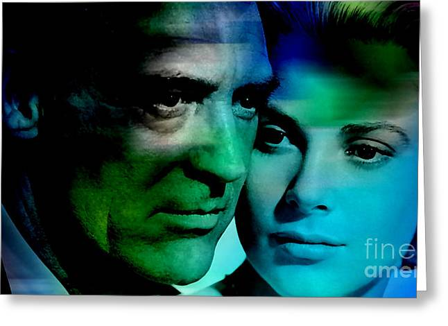 Grace Kelly And Cary Grant Greeting Card