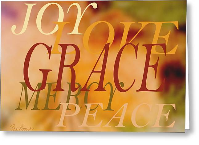 Grace Greeting Card by Zelma Hensel