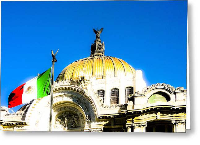 Graceful Art Nouveau Dome In Mexico City Greeting Card