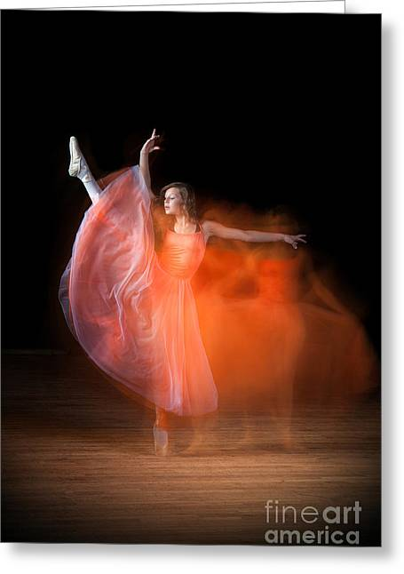 Graceful Ballerina Spirit Dance Greeting Card by Cindy Singleton