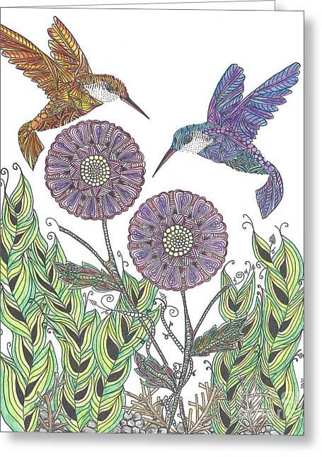 Graceful Humming Birds 2 Greeting Card