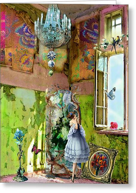 Grace's Window Greeting Card by Laura Botsford