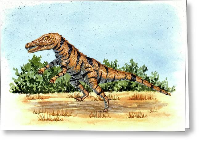 Gracilisuchus Prehistoric Crocodile Greeting Card by Deagostini/uig