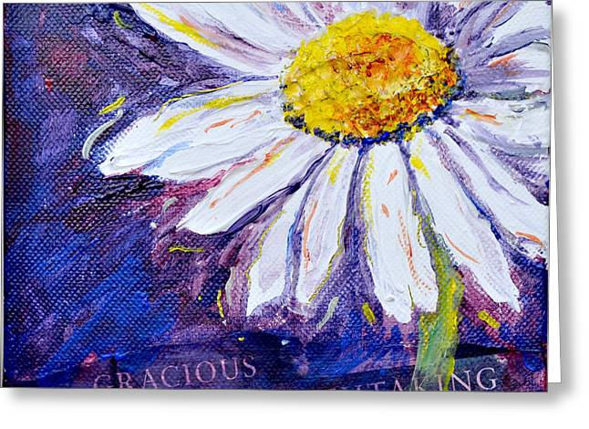 Greeting Card featuring the painting Gracious Daisy by Lisa Fiedler Jaworski
