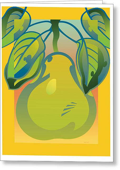 Gradient Pear Greeting Card