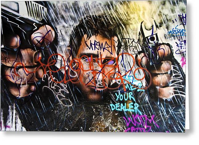 Graffiti 03 Greeting Card by Svetlana Sewell