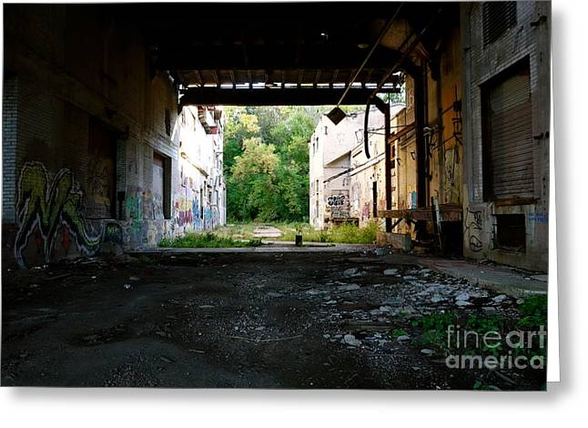 Graffiti Alley 1 Greeting Card by Jacqueline Athmann