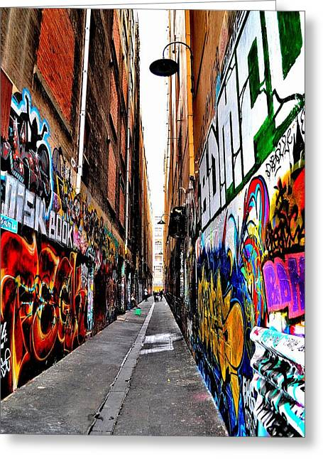 Graffiti Alley - Melbourne - Australia Greeting Card