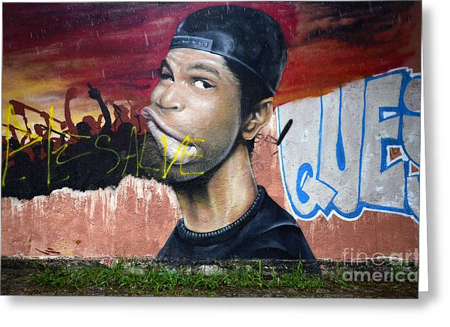 Graffiti Art Curitiba Brazil 11 Greeting Card by Bob Christopher