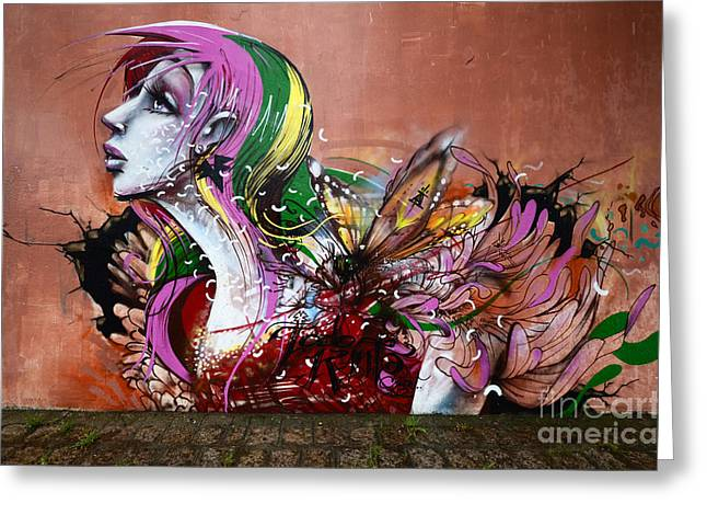 Graffiti Art Curitiba Brazil 15 Greeting Card by Bob Christopher