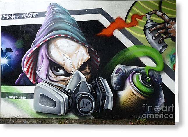 Graffiti Art Curitiba Brazil 18 Greeting Card by Bob Christopher