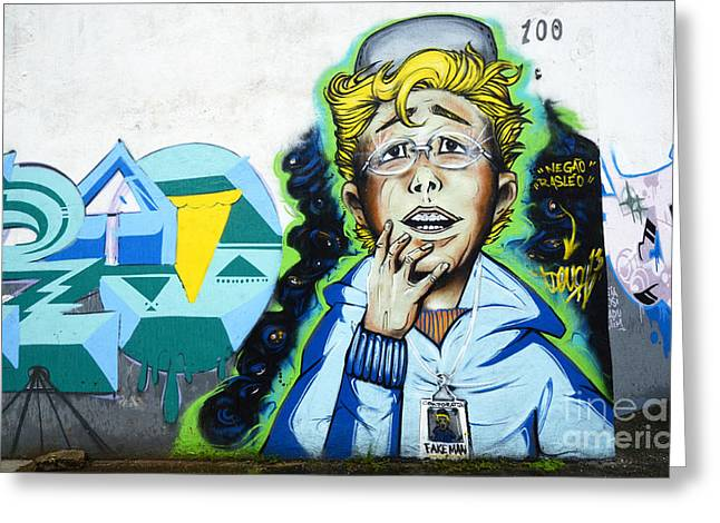 Graffiti Art Curitiba Brazil 20 Greeting Card by Bob Christopher