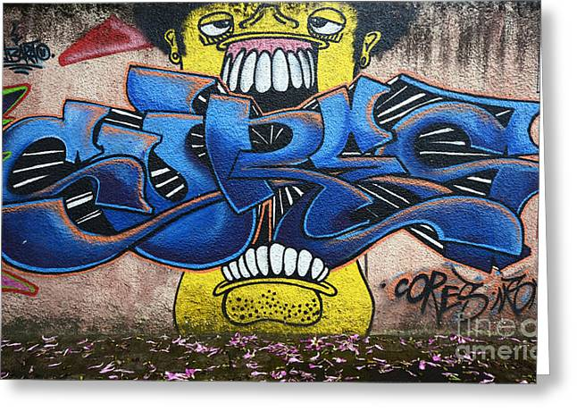 Graffiti Art Curitiba Brazil 7 Greeting Card by Bob Christopher