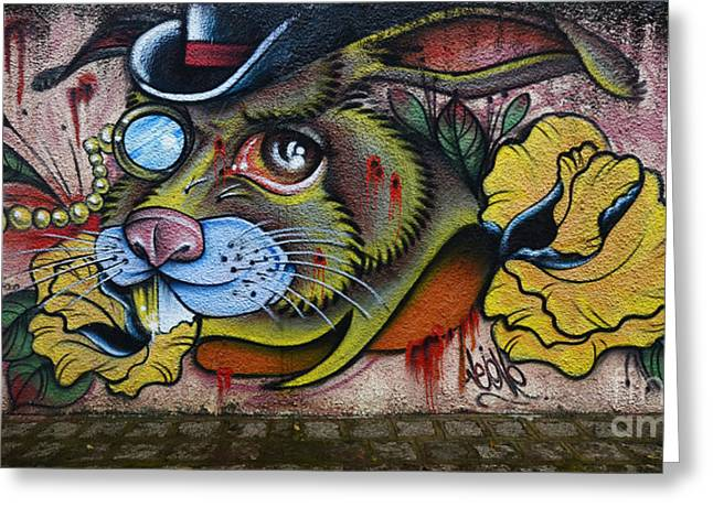 Graffiti Art Curitiba Brazil 8 Greeting Card by Bob Christopher