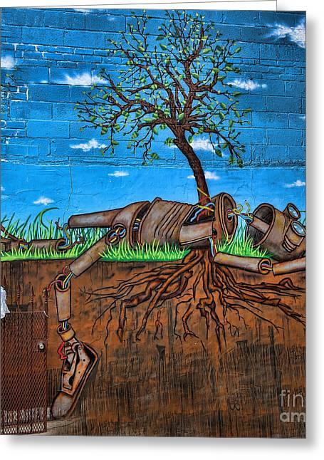 Graffiti Art Iv Greeting Card by Chuck Kuhn
