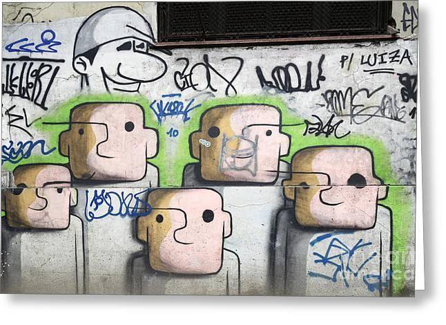 Graffiti Art Rio De Janeiro 5 Greeting Card