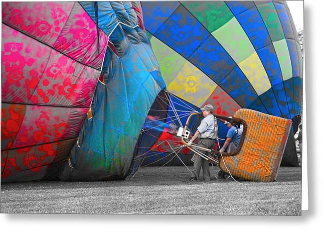 Graffiti Balloons Greeting Card by Betsy Knapp