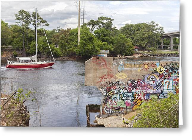 Graffiti Bridge Image Art Greeting Card