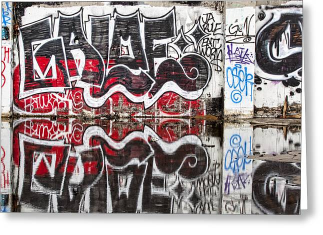 Graffiti Greeting Card by Carol Leigh
