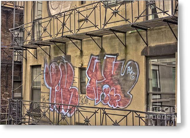 Graffiti Greeting Card by David Bearden