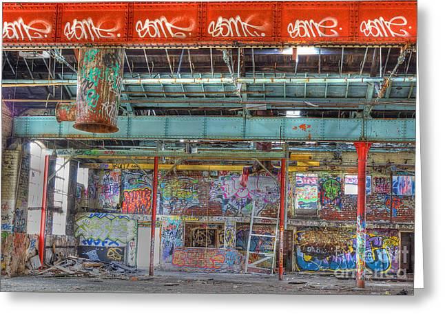 Graffiti Gallery Greeting Card by David Birchall