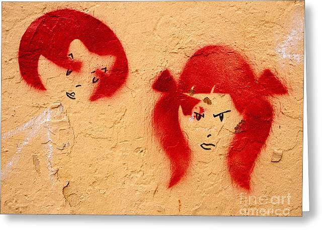 Graffiti Girls 02 Greeting Card by Rick Piper Photography
