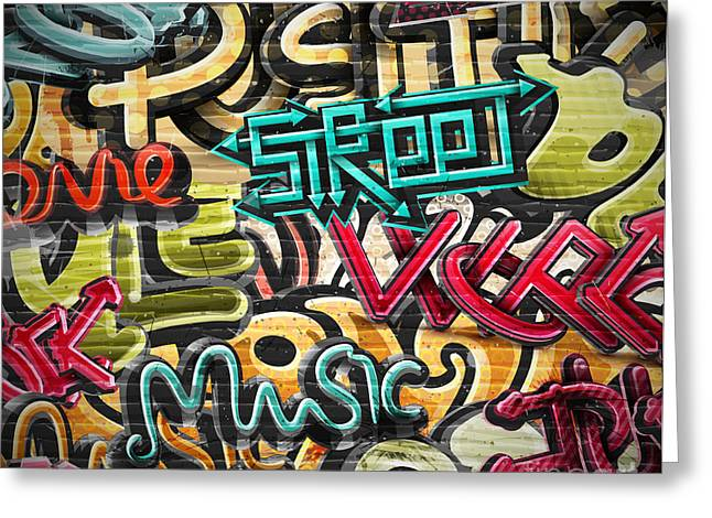 Graffiti Grunge Texture. Eps 10 Greeting Card