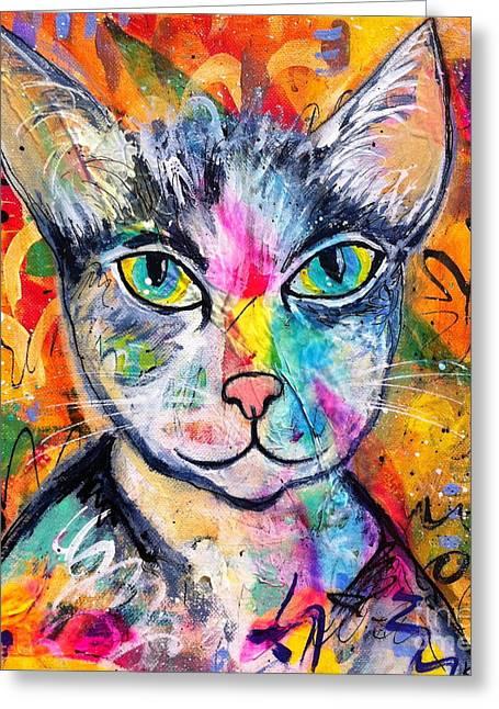 Graffiti Kitty  Greeting Card
