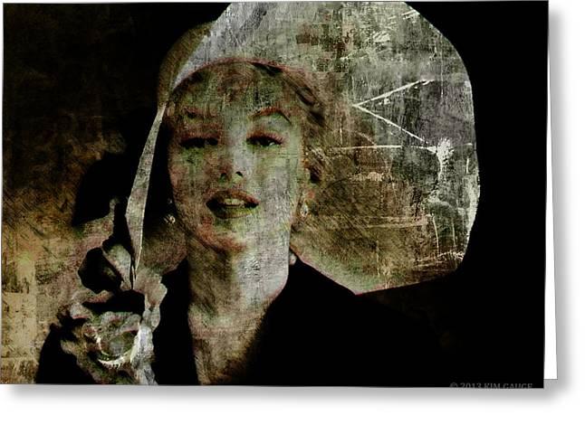 Graffiti On Marilyn Greeting Card by Kim Gauge