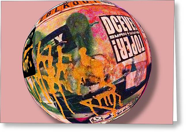 Graffiti Orb 1 Greeting Card by Tony Rubino