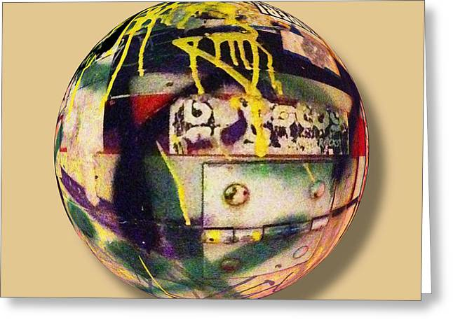Graffiti Orb 2 Greeting Card by Tony Rubino