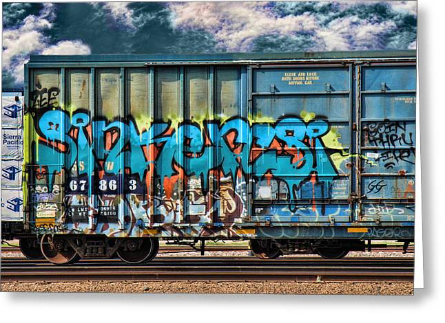 Graffiti - Sinker Greeting Card