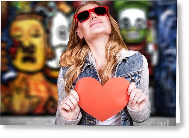 Graffiti Urban Lifestyle Greeting Card by Anna Om