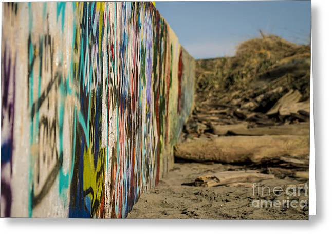 Graffiti Wall Greeting Card by Arlene Sundby
