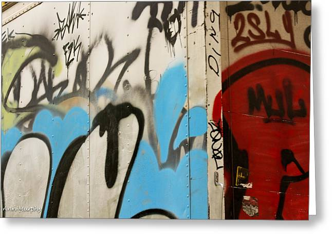 Greeting Card featuring the photograph Graffiti Writing Nyc #2 by Ann Murphy