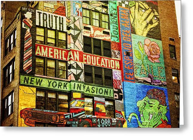 Graffitti On New York City Building Greeting Card