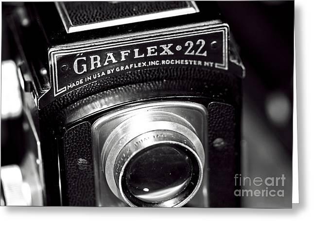 Graflex 22 Greeting Card by John Rizzuto