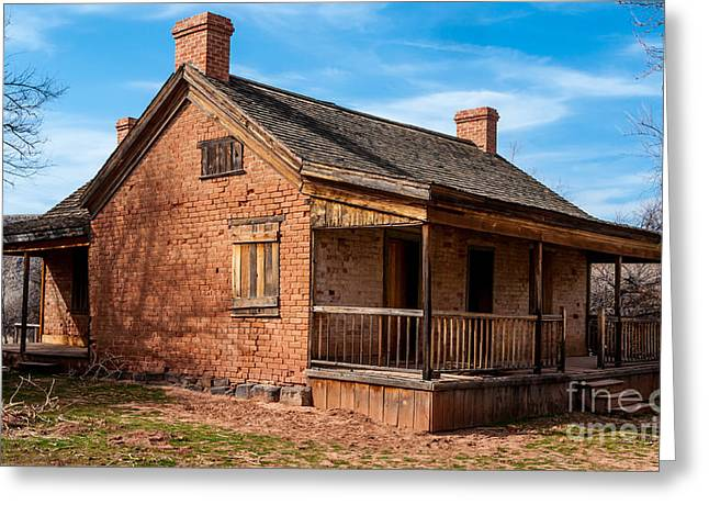 Grafton Ghost Town Home - Utah Greeting Card by Gary Whitton