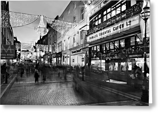Grafton Street At Night / Dublin Greeting Card