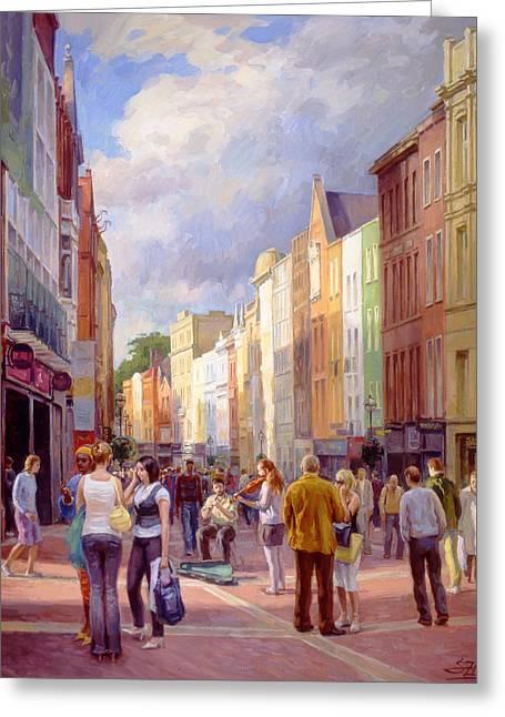 Grafton Street. Dublin Greeting Card