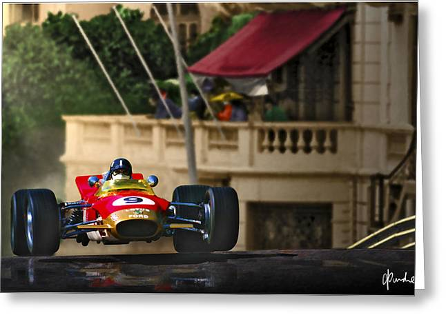 Graham's Monaco 1968 Greeting Card by Craig Purdie