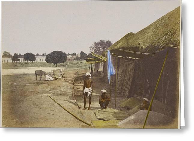 Grain Bazaar Greeting Card by British Library