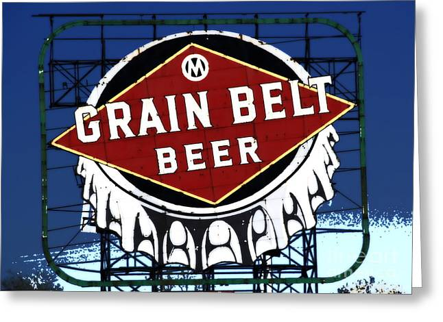 Grain Belt Blue Greeting Card by A K Dayton