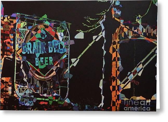 Grain Belt Collage Greeting Card