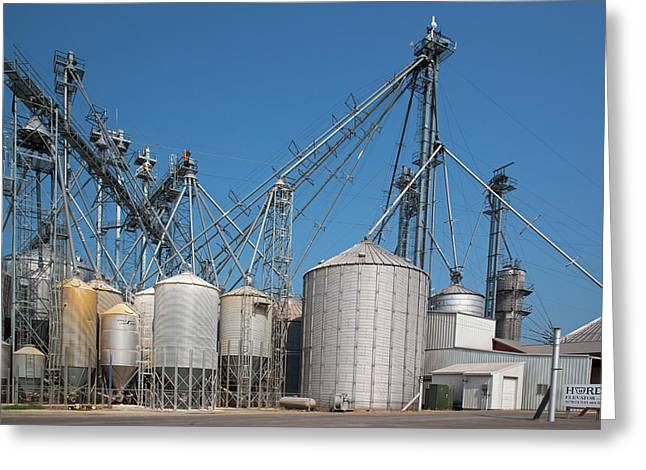 Grain Elevator Complex Greeting Card by Jim West