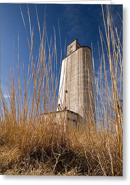 Grain Elevator Greeting Card by Peter Tellone