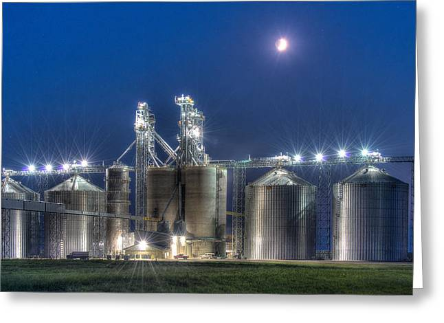 Grain Processing Plant Greeting Card by Paul Freidlund